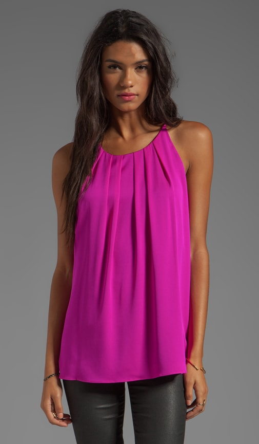 Stretch Silk Crepe Gwen Fly-Away Tank