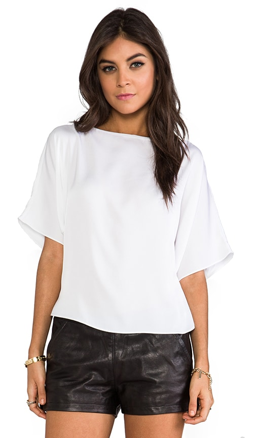 Matte Stretch Silk Dolman Sleeve Top