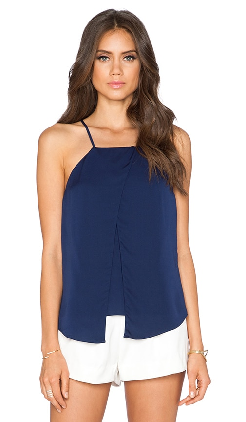 MILLY Crossover Tank in Navy