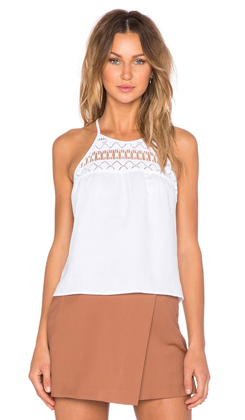 MILLY Crochet Tank in White
