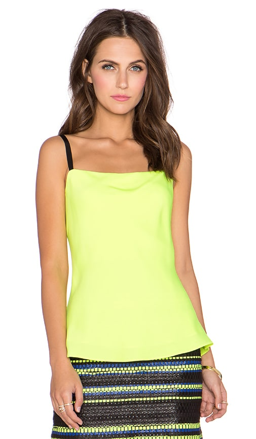 MILLY Bias Tank in Neon Yellow