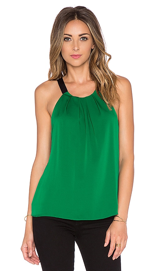 MILLY Pleated Tank in Emerald