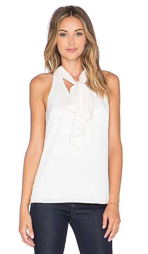 MILLY Scarf Halter Top in Ivory