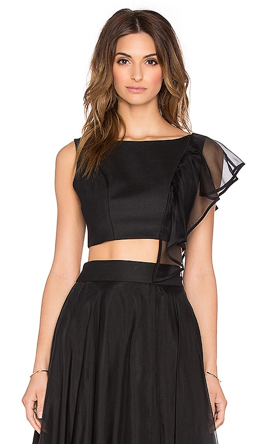 Cascade Silk Organza Crop Top