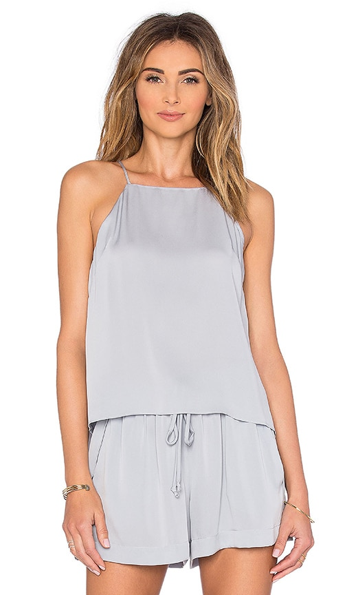 MILLY Trapeze Top in Light Gray