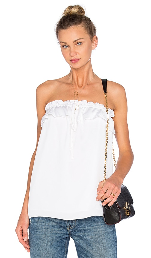 MILLY April Strapless Top in White