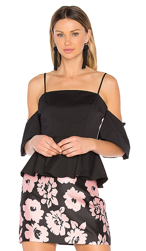 MILLY Noelle Top in Black