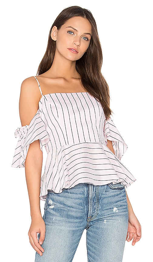 MILLY Noelle Top in Blush