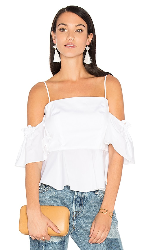 MILLY Noelle Top in White