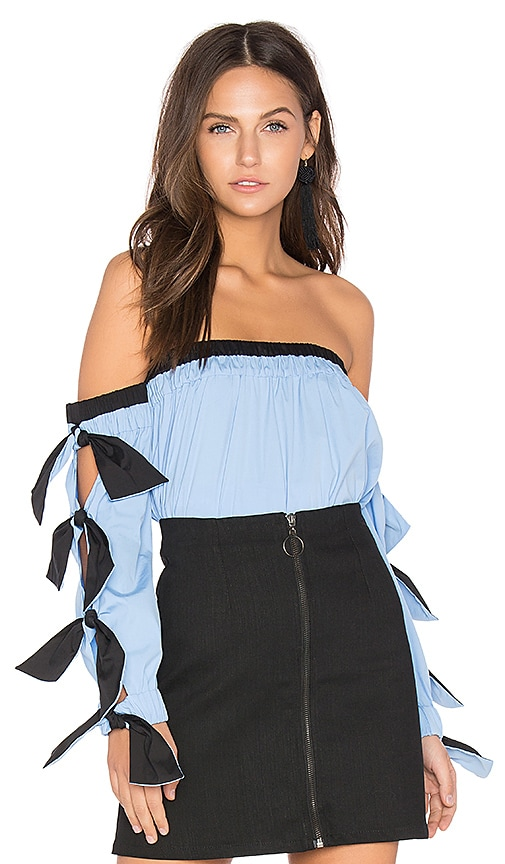 MILLY Blythe Top in Blue
