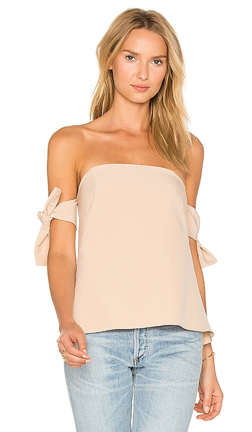 MILLY Jade Top in Beige