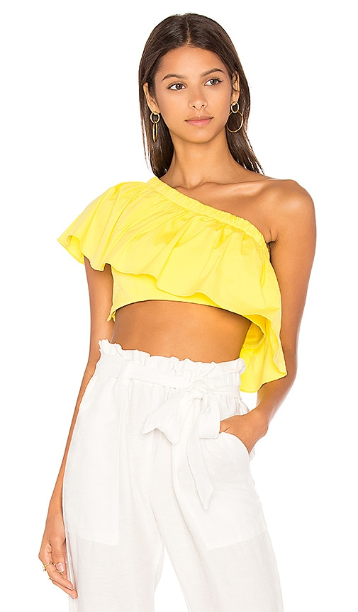 MILLY Alexis Top in Yellow