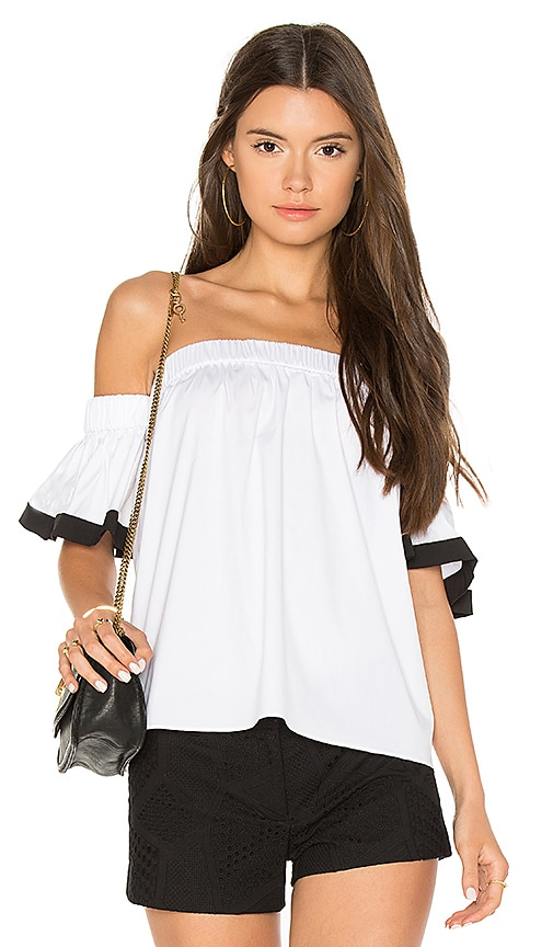 MILLY Bare Shoulder Top in White