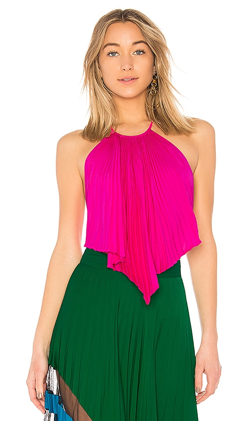 MILLY Kat Top in Fuchsia