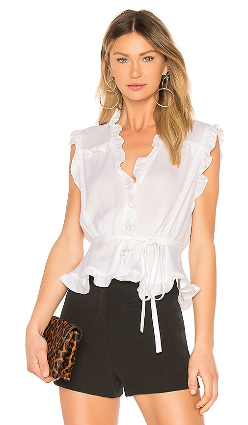 MILLY Claire Top in White