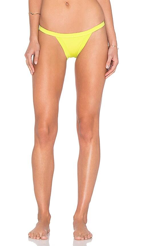 d7e85922804b7 MILLY Italian Solid Cheeky Bikini Bottom in Citron on sale - www ...