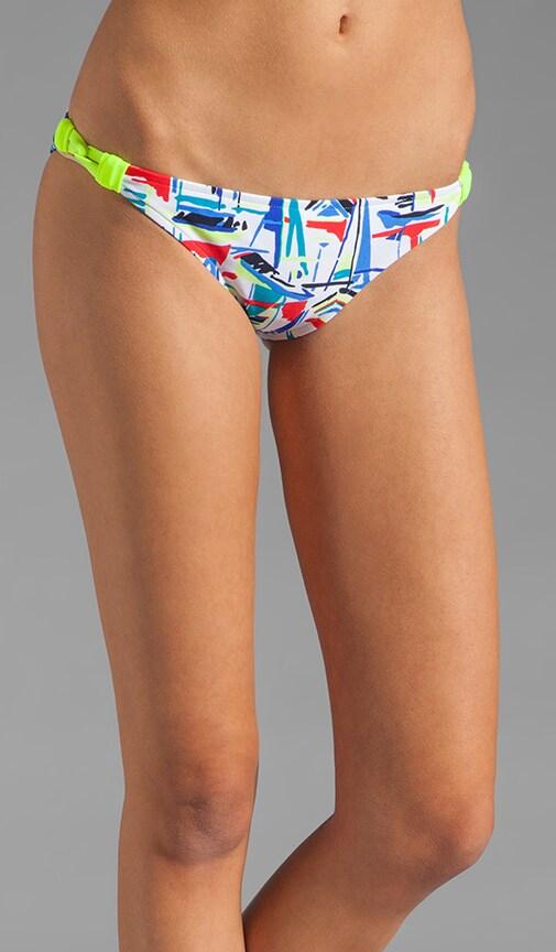 Sailboats Print Capri Bikini Bottom