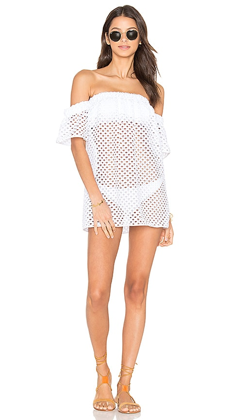 MILLY Flutter Sleeve Cover Up in White