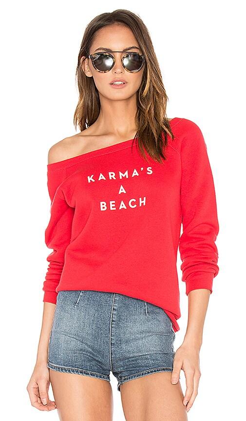 MILLY Karmas A Beach Sweatshirt in Red