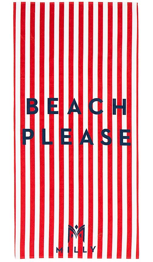 Beach Please Striped Beach Towel