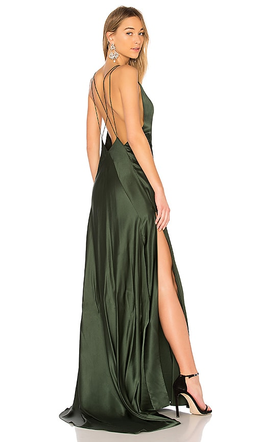 Michael Lo Sordo Alexandra Maxi Dress in Green