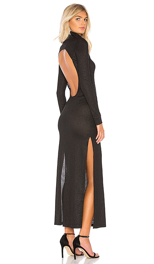 Michael Lo Sordo Long Sleeve Knit Dress in Black