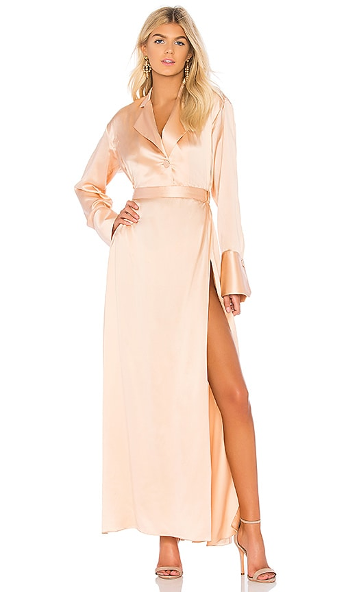 Michael Lo Sordo Relaxed Shirt Dress in Blush