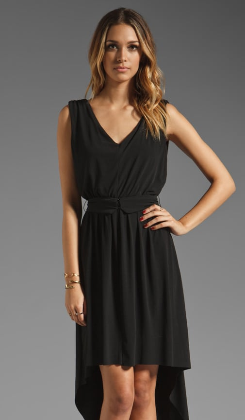 V Neck Hi Lo Dress