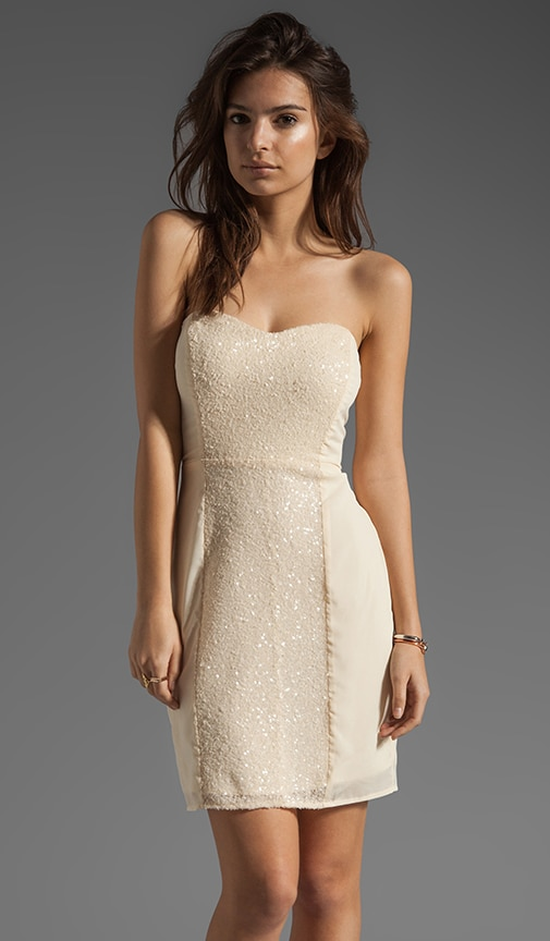 Strapless Mini Dress With Sequin