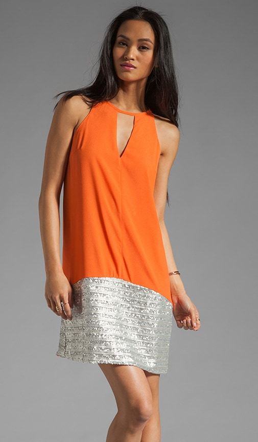 Sleeveless Dress With Bottom Sequin