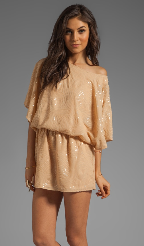 Sequin Dress With Flutter Sleeve