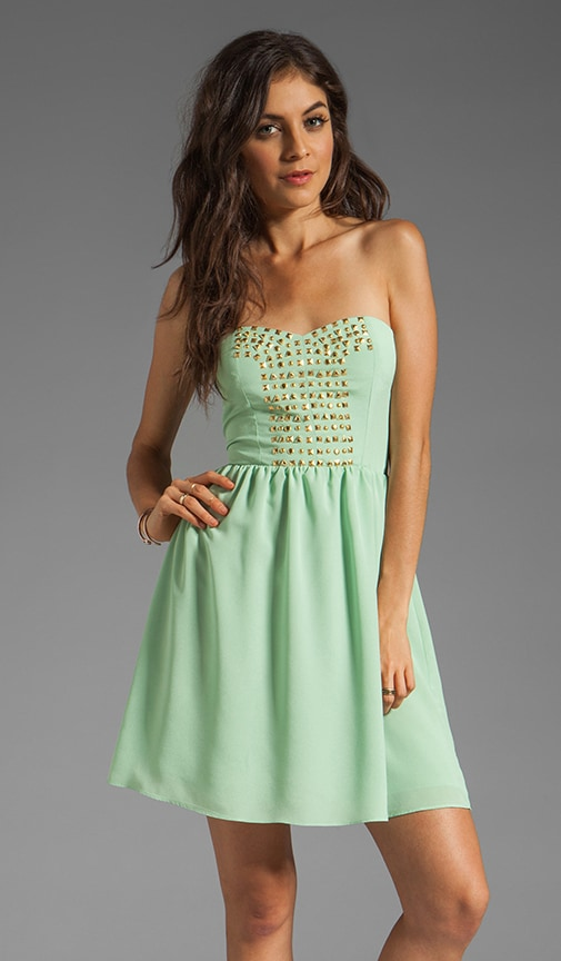 Strapless Dress With Studs