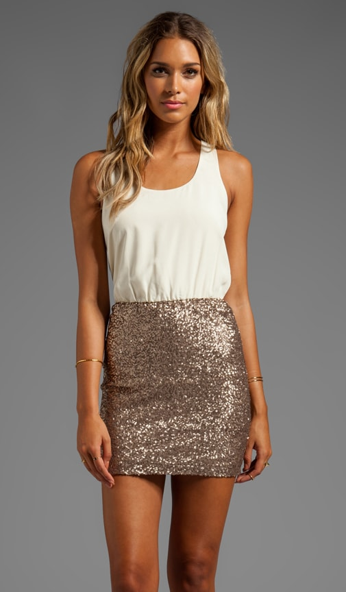 Racerback Dress w/ Sequin Bottom