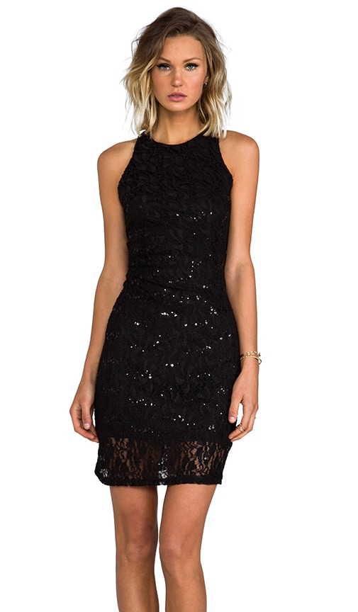 Racer Front and Back Sequin Dress