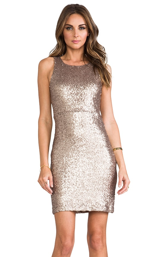 Sleeveless Allover Sequin Dress