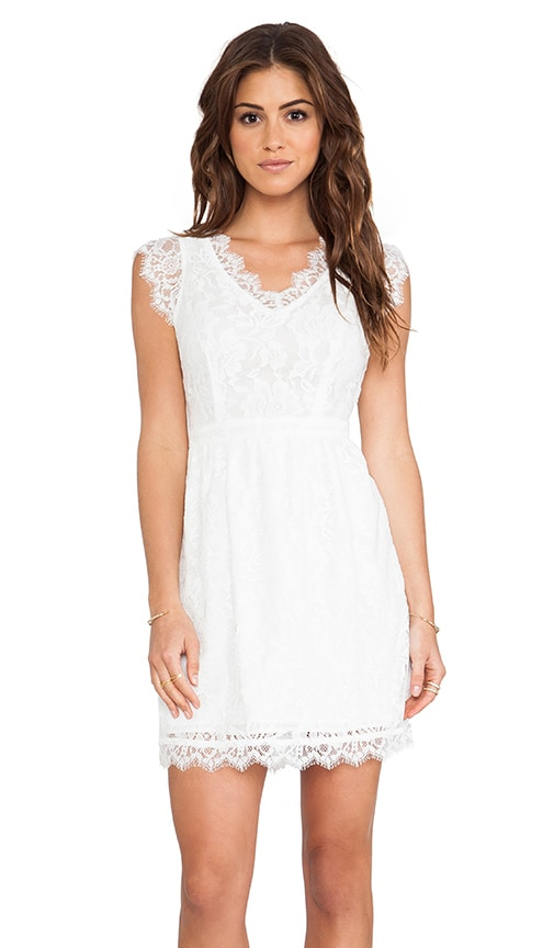 Cap Sleeve Allover Lace Dress