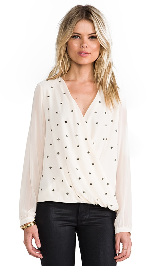 Studded Drape Blouse