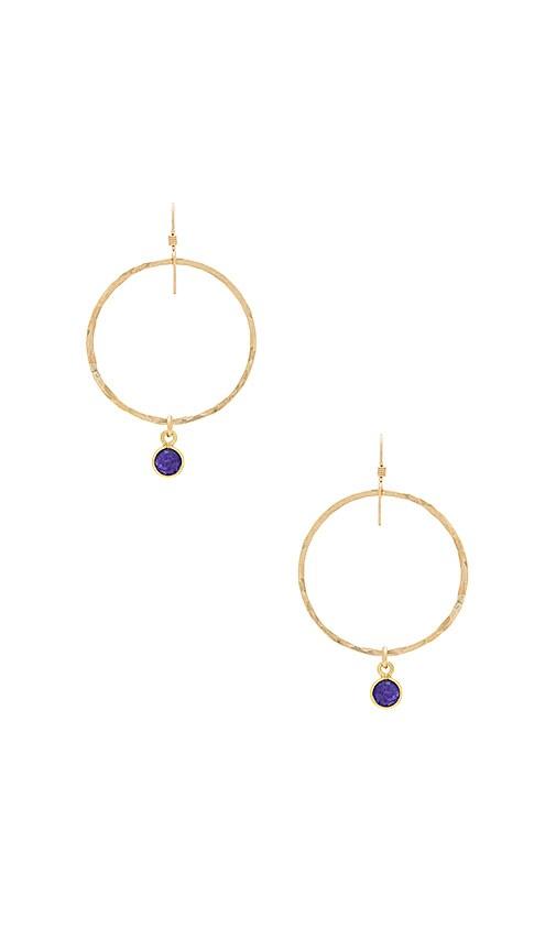 Mimi & Lu Vix Earrings in Metallic Gold