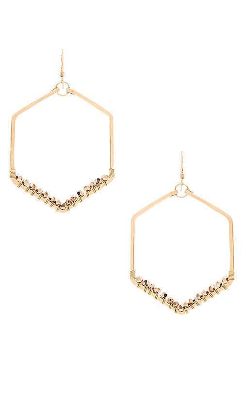 Mimi & Lu Kennedy Hexagon Earring in Gold & Rose Gold