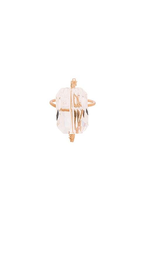 Mimi & Lu Zane Ring in Metallic Gold