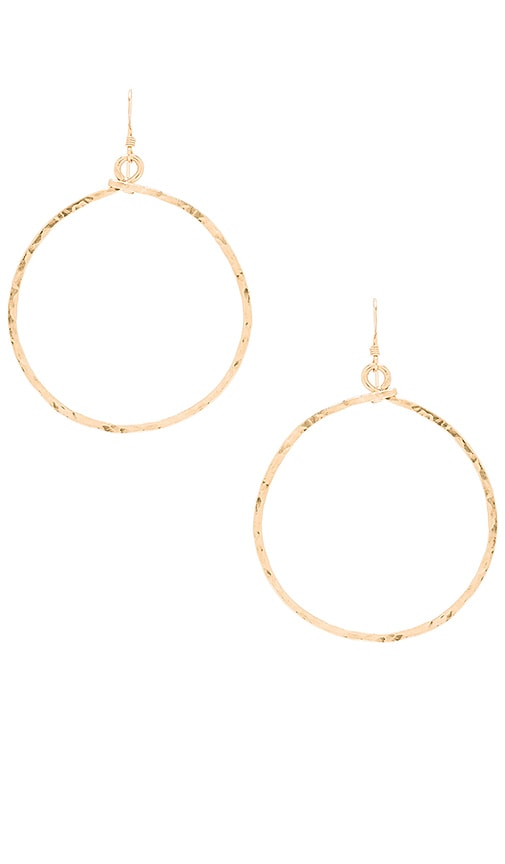 Mimi & Lu Echo Hoop Earrings in Metallic Gold