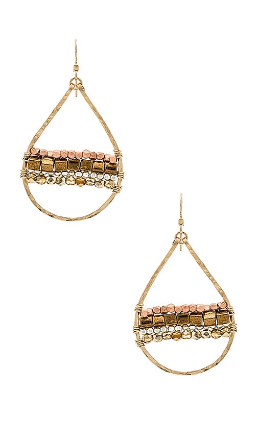 Mimi & Lu Horizon Earrings in Metallic Gold
