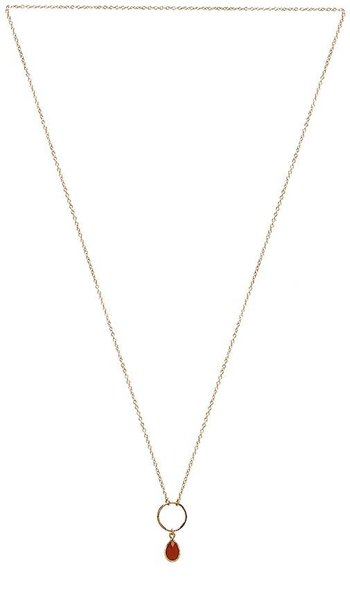 Mimi & Lu Journey Necklace in Metallic Gold
