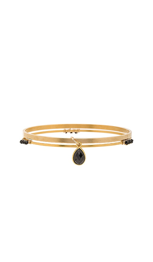Mimi & Lu Micah Bangle Set in Metallic Gold