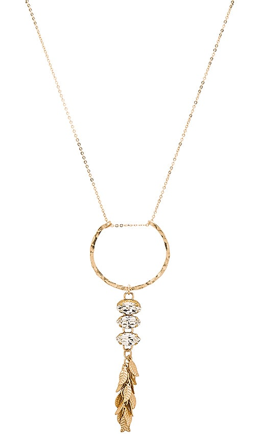 Mimi & Lu Trinity Necklace in Metallic Gold
