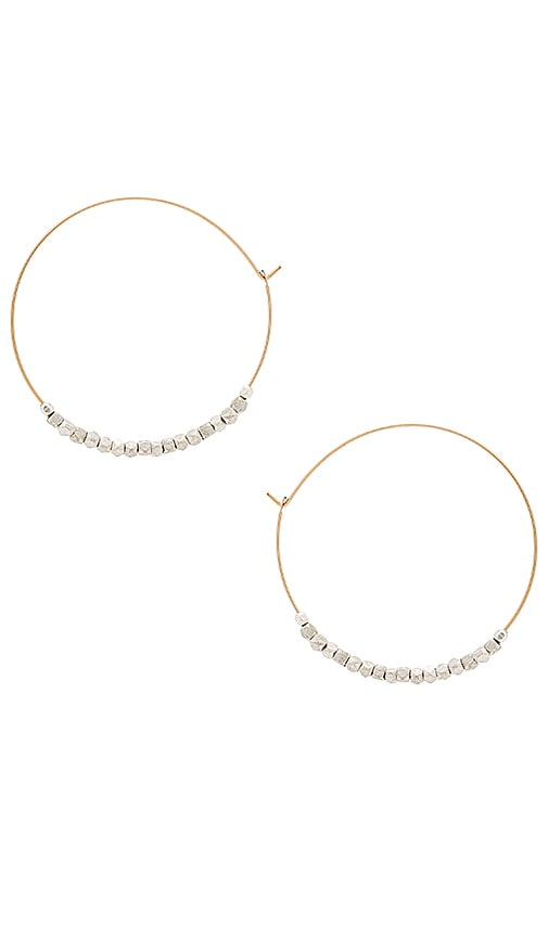 Mimi & Lu Unite Earrings in Metallic Gold GD9U7L