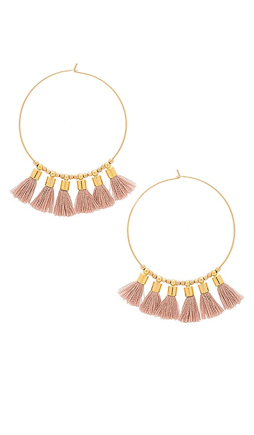 Mimi & Lu Sonia Tassel Earrings in Metallic Gold