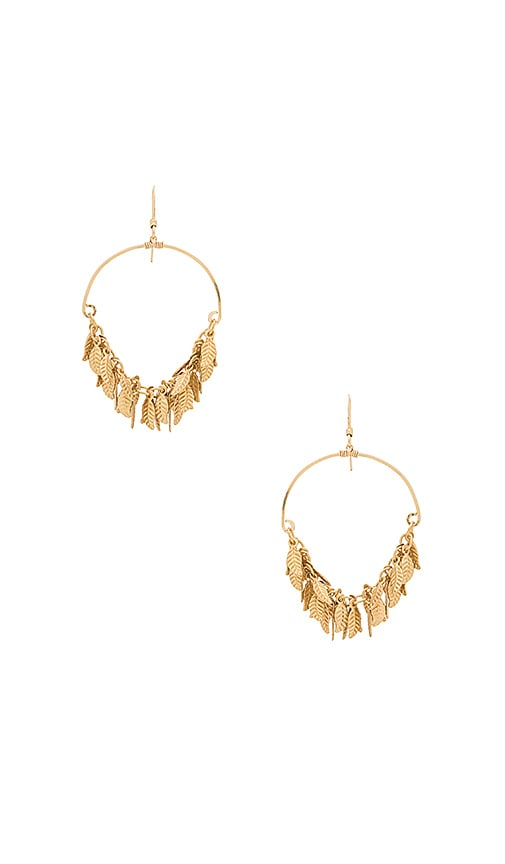 Mimi & Lu Goddess Earrings in Metallic Gold