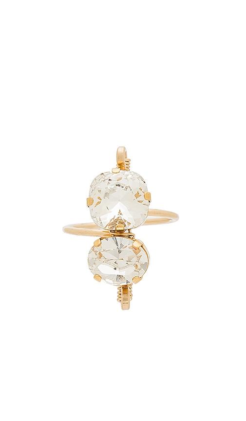 Mimi & Lu Alma Ring in Metallic Gold