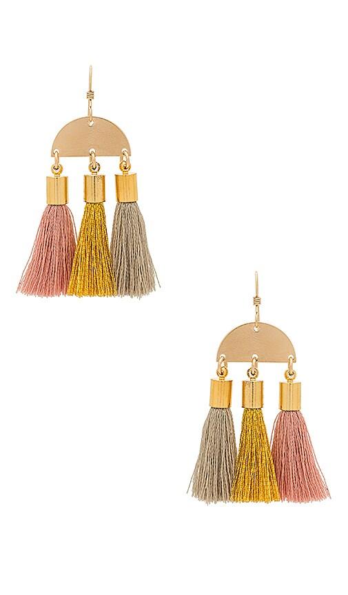 Mimi & Lu Maya Earrings in Metallic Gold